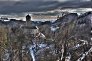 Castle winter panorama II